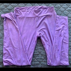 EXC Used EUC LuLaRoe SZ:TC Leggings (purple solid)